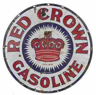 Red Crown Gas Sign