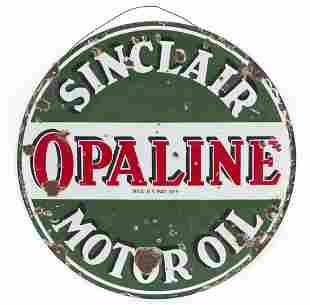 Sinclair Opaline Motor Oil Sign