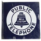Small Bell Telephone Flange Sign