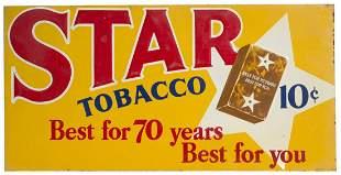 Star Tobacco Tin Sign