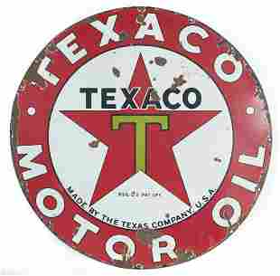 Texaco Motor Oil Porcelain Sign