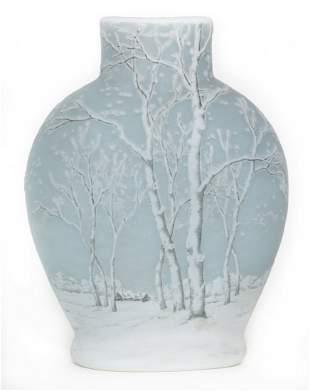 Daum Nancy Blue Winterscene with Snow