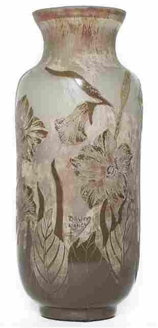 Daum Nancy Vase with Daffodils