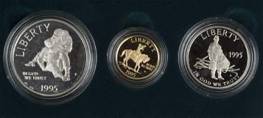 1995 US Mint Civil War Gold  Silver Coins