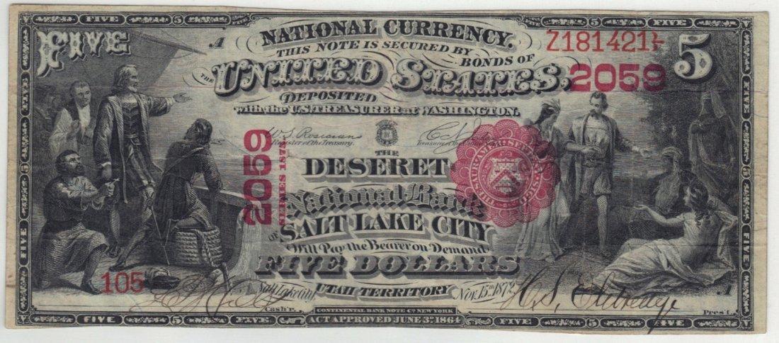Salt Lake City, UT - Ch. 2059 - $5 1875 First Charter