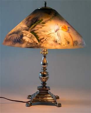 Pairpoint Jungle Birds Lamp
