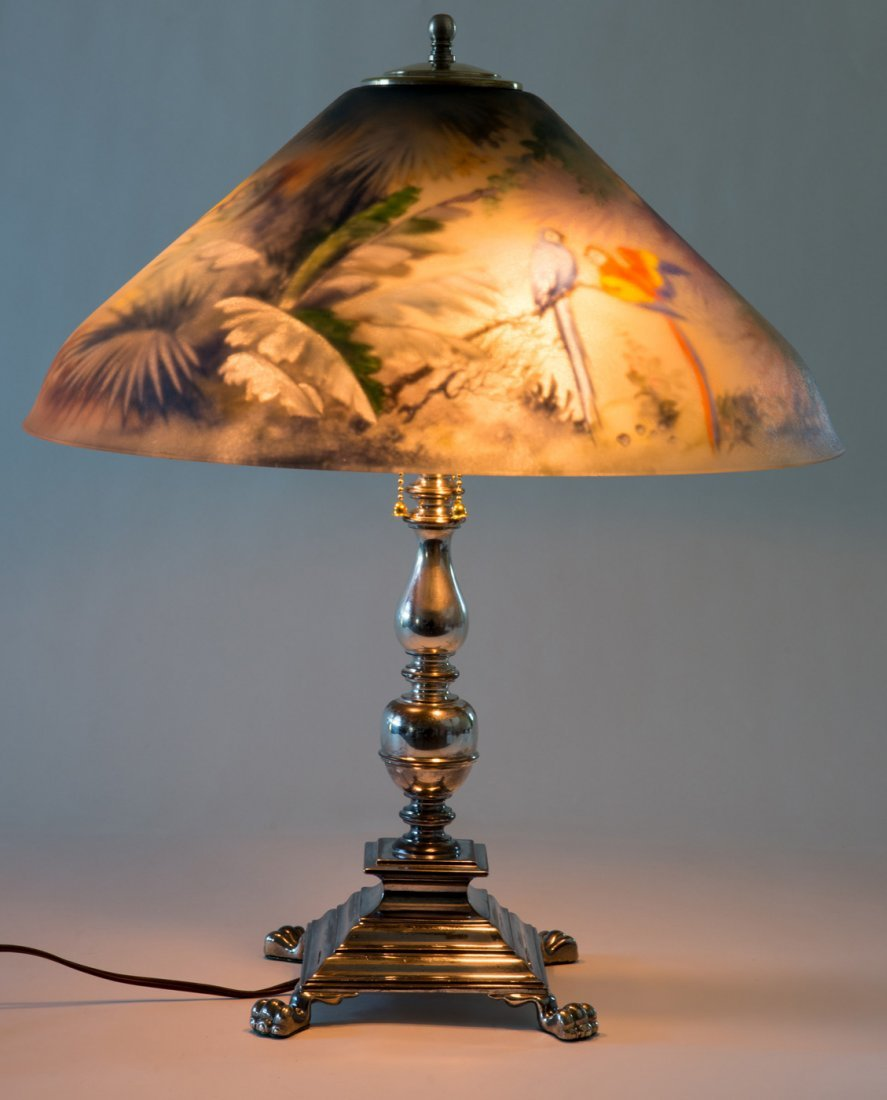 Pairpoint Jungle Birds Lamp