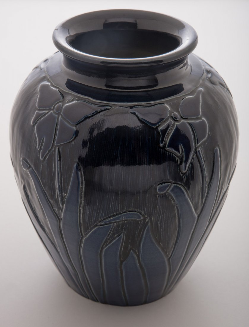 North Dakota School of Mines Blue Floral Vase