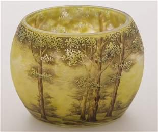 Daum Nancy Summer Scenic Pillow Vase