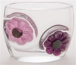 Daum France Pat De Sur Vase