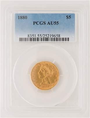1880 $5 Liberty Gold Coin