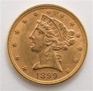1899 $5 Liberty Gold Coin