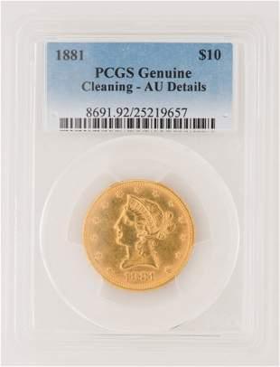 1881 $10 Liberty Gold Coin