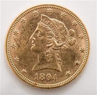 1894 $10 Liberty Gold Coin