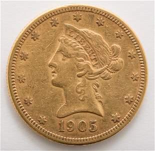 1905 $10 Liberty Gold Coin