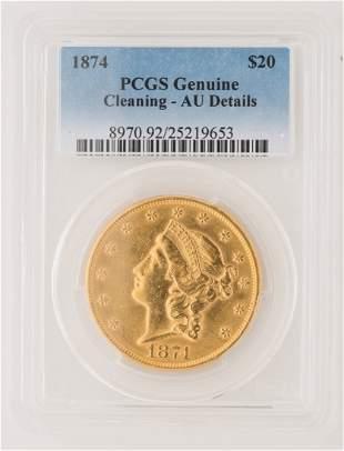 1874 $20 Liberty Gold Coin