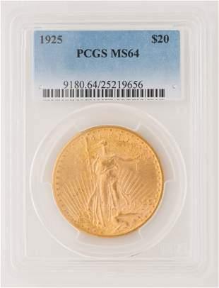 1925 $20 St. Gaudens Gold Coin
