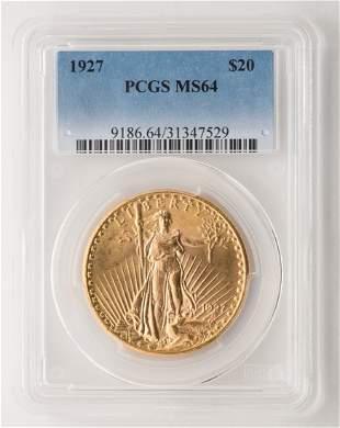 1927 $20 St. Gaudens Gold Coin