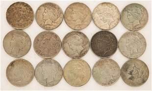 Lot of 27 1922 Peace Dollars