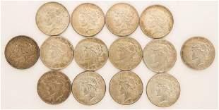 Lot of 14 1926 Peace Dollars