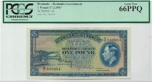 Bermuda - P16 - 1 Pound 17th February 1947