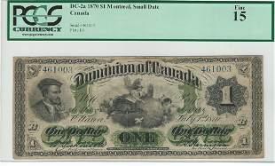 Dominion of Canada DC-2a 1870 $1
