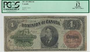 Dominion of Canada DC-10 1882 $4