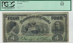 Dominion of Canada DC-17b 1902 $4