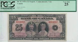 Canada - BC-11 1935 $25 Bank of Canada
