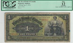 The Royal Bank of Canada Kingston, Jamaica 1-2-1911 1