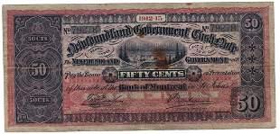 NF-8c - 1912-13 50 Cents Newfoundland Cash Note
