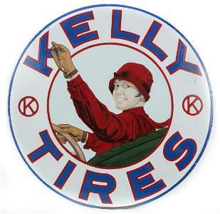 Rare Kelly Tires Porcelain Sign