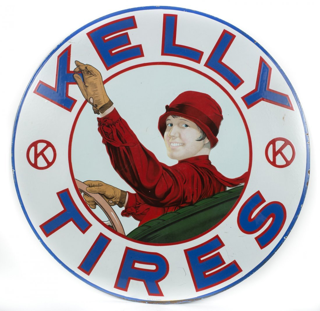 Rare Kelly Tires Porcelain Sign