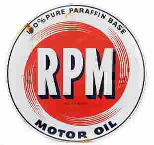 RPM Motor Oil Sign