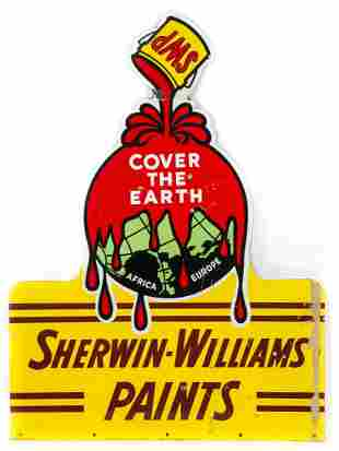 Sherwin Williams Die Cut Porcelain Sign