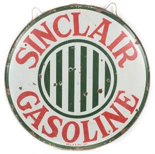 Sinclair Gasoline Porcelain Sign w/ Hanging Ring