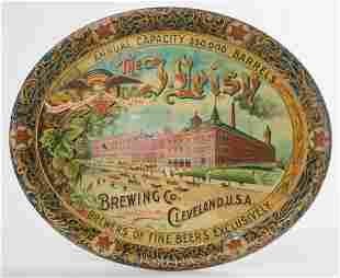 Rare Leisy Brewing Co. Cleveland Ohio Beer Tray