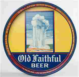 Gallatin Brewing Co. Old Faithful Beer Tray