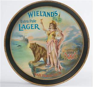 Wieland's Extra Pale Lager San Francisco Beer Tray