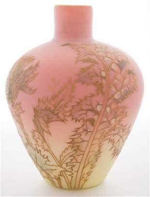 Mount Washington Burmese Thistle Vase