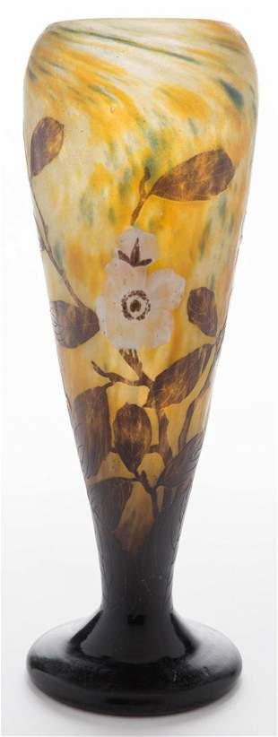 Wheel Carved Daum Nancy Vase