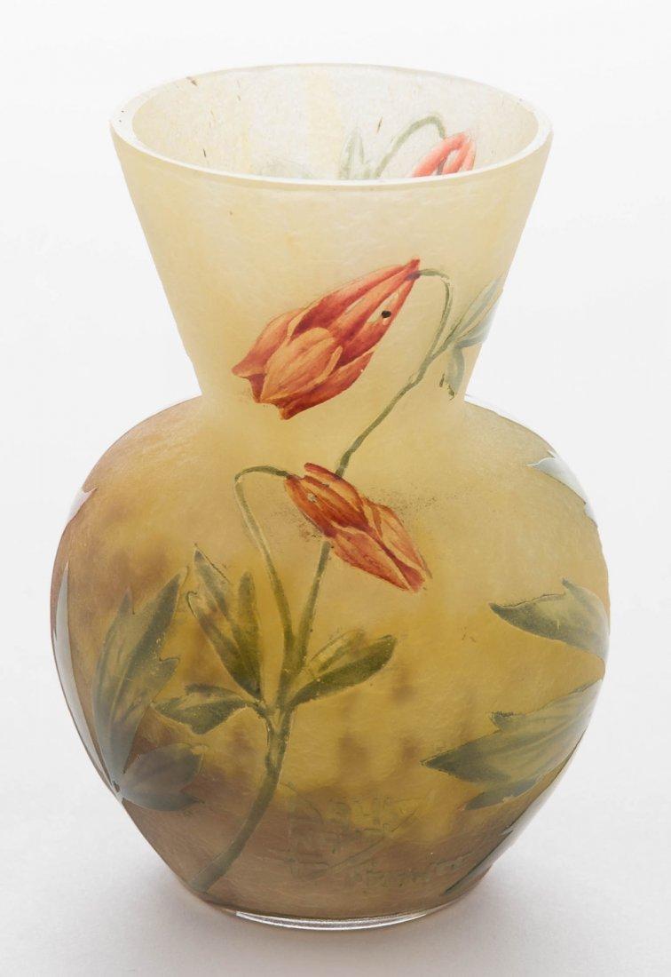 Daum Nancy Vase with Floral Design