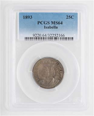 1893 Isabella Commemorative Half Dollar