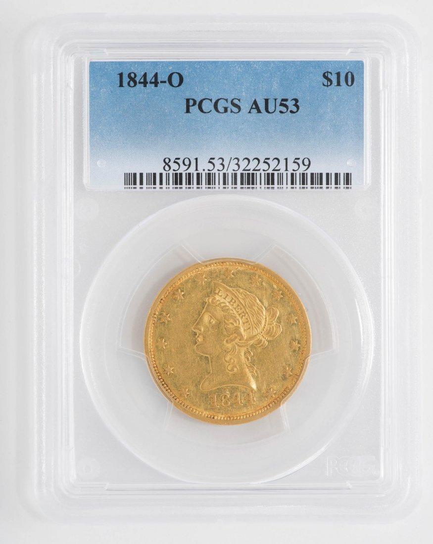 1844-O $10 Liberty Head Gold Coin
