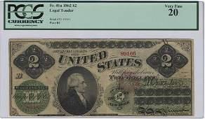 Fr. 41a - 1862 $2 Legal Tender