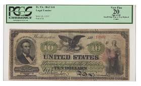 Fr. 93c - 1862 $10 Legal Tender