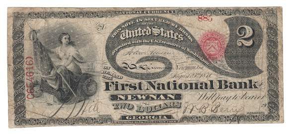 Newnan, GA - Ch. 1861 - $2 Original Series