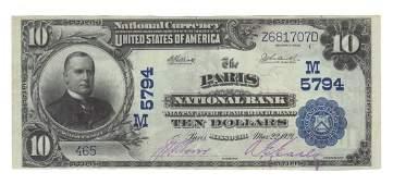 Paris, MO - Ch. 5794 - 1902 $10 Blue Seal
