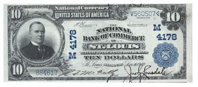 St. Louis, MO - Ch. 4178 - 1902 $10 Blue Seal