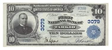Tarkio, MO - Ch. 3079 - 1902 $10 Blue Seal